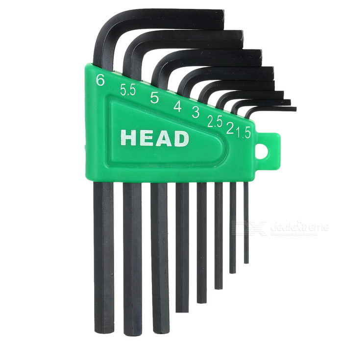 8-Piece Set Hex Keys (1.5mm ~ 6.0mm)