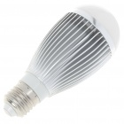 E27 7W 590lm 6500K Cold White Light 7-LED Globular Bulb (AC 85~265V)