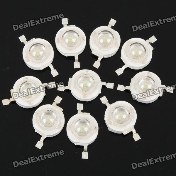 1W 60-70lm 525nm Green Light LED Lamp Bead (3.2-3.4V / 10 PCS)