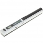 """0.8"""" LCD Cordless Handheld A4 Handy Scanner with USB + TF Card Slot - Silver + Black (2xAA)"""