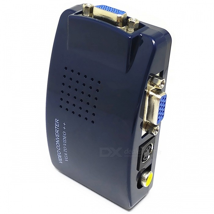 Buy VGA to CVBS + S-Video PC to TV Video Converter Adapter with Litecoins with Free Shipping on Gipsybee.com