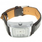 Stainless Steel Mechanical Wrist Watch with Date Display - Silver + White + Black