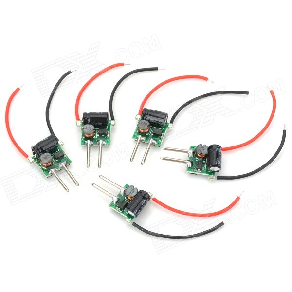 3W Power Drivers for MR16 Lamp Light (DC 12V / 5PCS)LED Power Drivers<br>Form  ColorBlackPacking List<br>