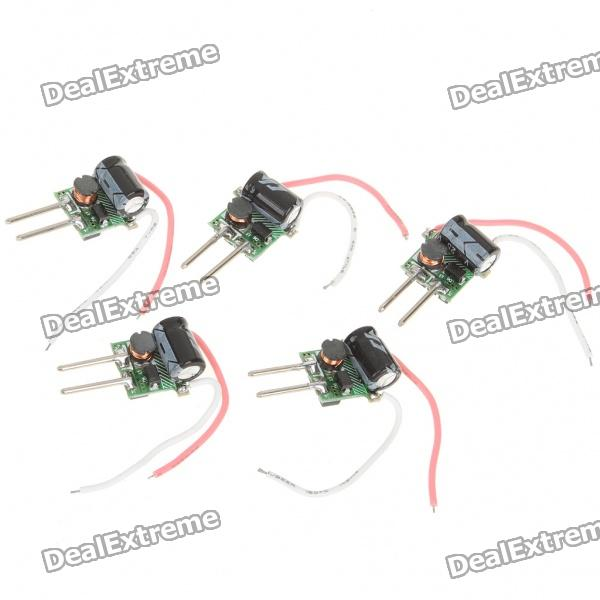 9W 3-LED Power Drivers for MR16 Lamp Light (12V / 5PCS)
