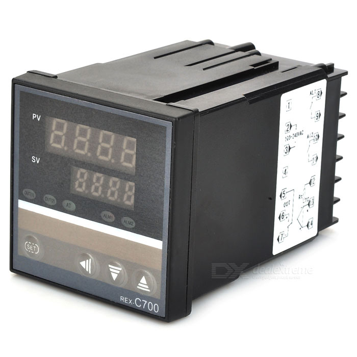 Digital Temperature Controller - Black