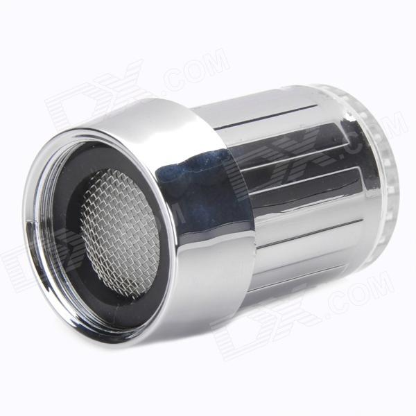 Buy RGB 3-Mode Faucet Taps Filter Temperature Sensor Indicator - Silver with Litecoins with Free Shipping on Gipsybee.com