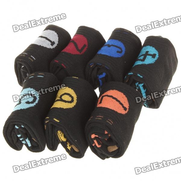 Buy Days Of The Week Socks for Male - Black (7-Pair Pack) with Litecoins with Free Shipping on Gipsybee.com