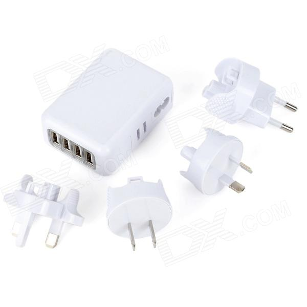 4-in-1 AC Charger Kit for MP3/MP4/Cellphone + More (AC 100~240V)