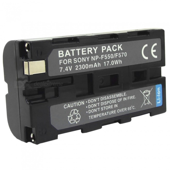 Replacement NP-F570/550 7.4V 2300mAh Battery for Sony TRV1/200/VX2100E/320E/HVR-Z1C + More