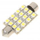 1.5W 41MM 16-SMD 3528 LED 65LM White Light for Car