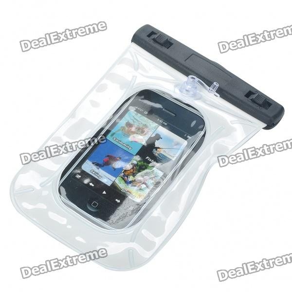 Waterproof Bag Case With Strap For Cell Phone Mp3 Mp4 White