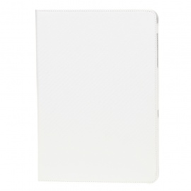 Protective Mat Pattern PU Leather Case for Samsung P7510 - White