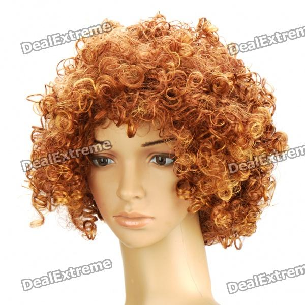 Buy Fashion Short Curly Hair Wig - Golden with Litecoins with Free Shipping on Gipsybee.com