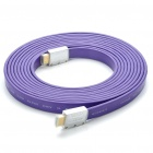 1080P-HDMI-V14-Male-to-Male-Flat-Connection-Cable-Purple-(5M-Length)