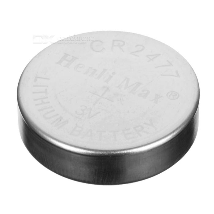 CR2477 3V Cell Battery - Silver