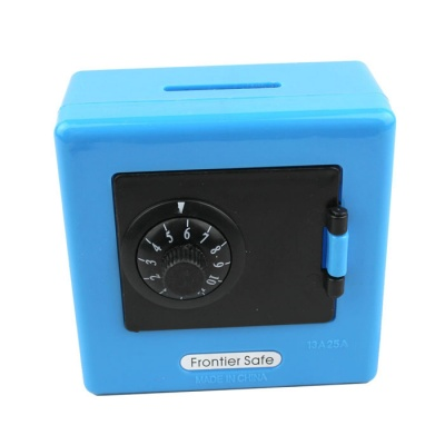 Mini 2-Digit PIN Combination Safe Coin Bank - Blue