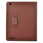 Protective PU Leather Case for Ipad 2 - Brown