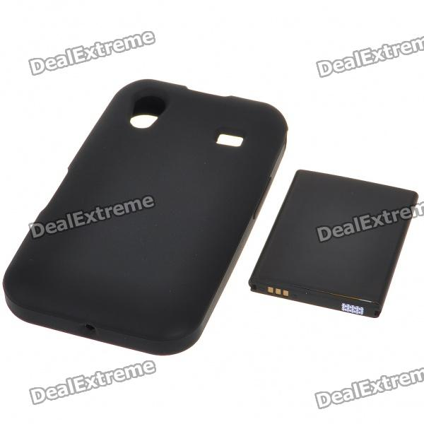 Buy Replacement 3.7V 1500mAh Rechargeable Lithium Battery with Silicone Case for Samsung S5830 - Black with Litecoins with Free Shipping on Gipsybee.com