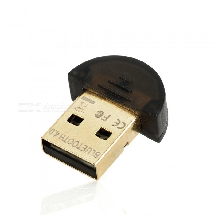 Mini Bluetooth 4.0 USB Dongle - Black + GoldenBluetooth &amp; IrDA<br>Form  ColorBlackShade Of ColorBlueApplicable ProductsPDAPowered ByUSBPower AdapterUSBPacking List<br>
