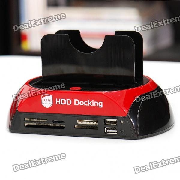 "All-in-1 Dual HDD Docking Station with One Touch Backup for 2.5""/3.5"" SATA HDD"