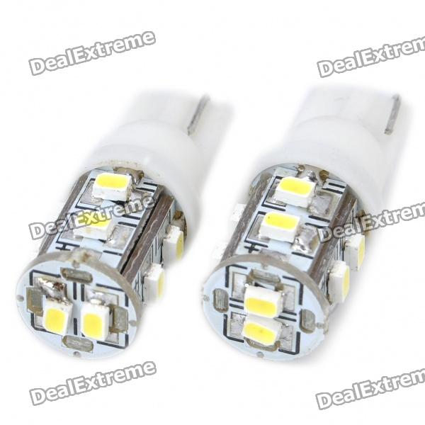 T10 0.8W 55LM 10x3020 SMD LED Car White Light Bulbs (Pair)Tail Lights<br>Material:PCBEmitterForm  ColorWhiteEmitter TypeLEDTotal Emitters1Color BINWhitePower8WColor Temperature:6000KConnectorConnector TypeT10Packing List<br>