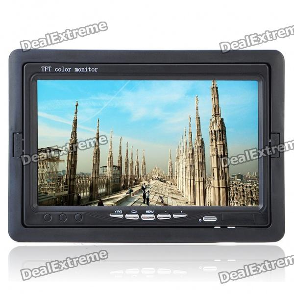 "Portable 7"" TFT LCD Monitor with AV In & Remote Controller (PAL/NTSC/480 x 234)"