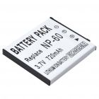 NP-60 Replacement Rechargeable 3.7V 720mAh Lithium Battery Pack for Casio Camera