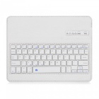 2.4GHz Bluetooth V3.0 Wireless Keyboard 76-Key con estuche protector de cuero de la PU para Ipad 2 - Blanco