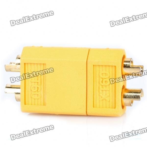 XT60 Connectors Plug for R/C Helicopter Battery - Yellow (Pair)