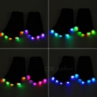 6-Mode Multicolored LED Light Rave Gloves - Black (Pair)