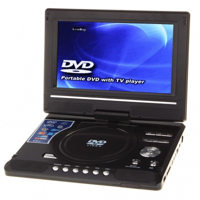 """Portable 9"""" TFT LCD DVD Media Player with Game/AV-In & Out/SD/USB"""