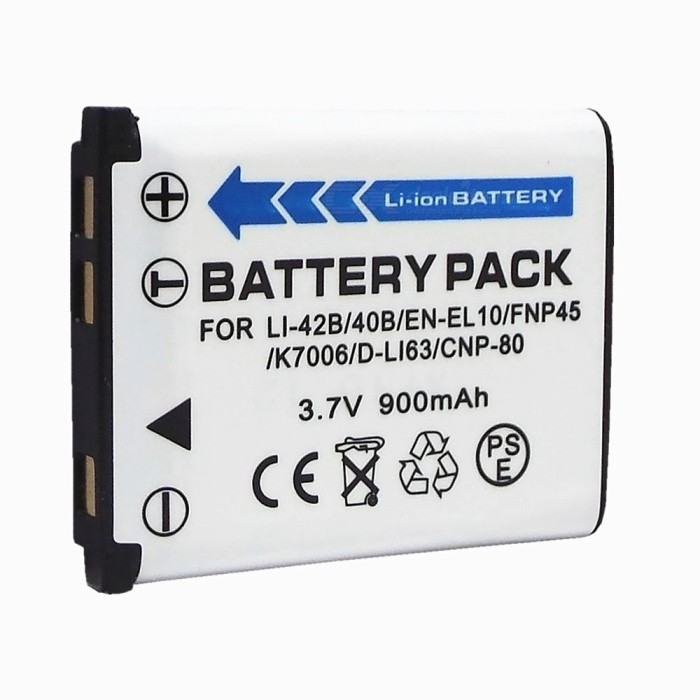 EN-EL10 Replacement 3.7V 900mAh Battery Pack for Nikon S200/S210
