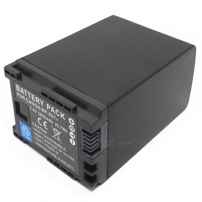 BP-827+ 7.4V 2800mAh Battery Pack for Canon DC 10/100/201/21/210/22/22
