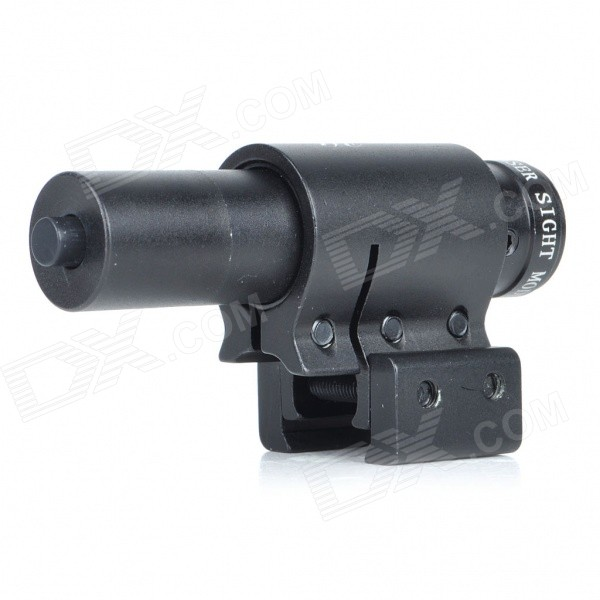 Universal Aluminum Alloy 5mW Red Laser Scope Gun Aiming Sight - Black