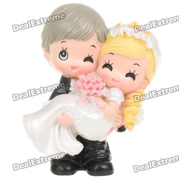 Buy Romantic Lovely Wedding Couple Figure Toy Desk Doll Ornaments with Litecoins with Free Shipping on Gipsybee.com