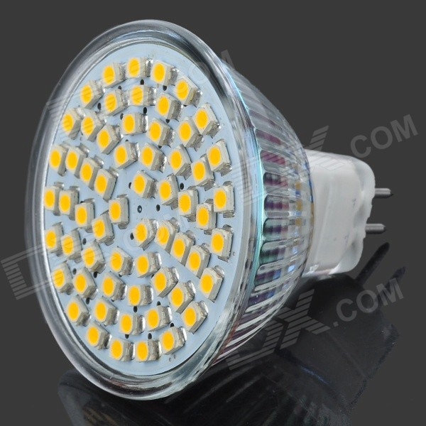 MR16 4W 240lm Warm White Light 60*3528 SMD LED Cup Bulb (DC 12V)