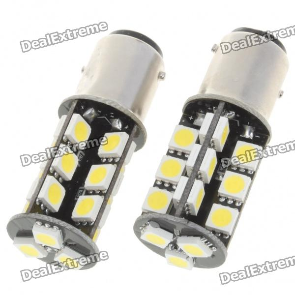 1157 5W 410-Lumen 6500K 27-SMD 5050 LED White Light Bulbs for BMW (Pair/12V)