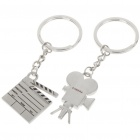 Zinc Alloy Lovers Keychains (Movie/Film Action Board & Camera / 2-Piece Set)