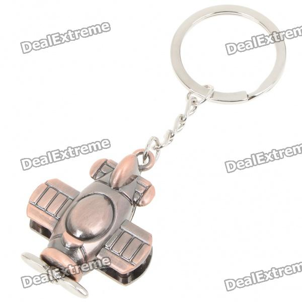 Cute Metal Alloy Plane Keychain - Cinnamon