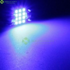 31mm 1W 50-Lumen 12x3528 SMD LED Car Blue Light Bulb (12V)