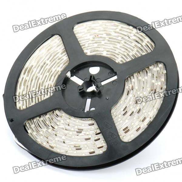 Waterproof 24W 1700LM 300x3528 SMD LED Yellow Light Flexible Strip w/ Power Adapter (5-Meter/DC 12V)