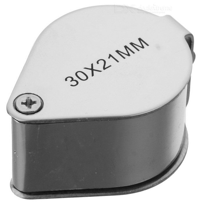 Buy 30x21mm Jewelers Loupe / Magnifier - Silver with Litecoins with Free Shipping on Gipsybee.com
