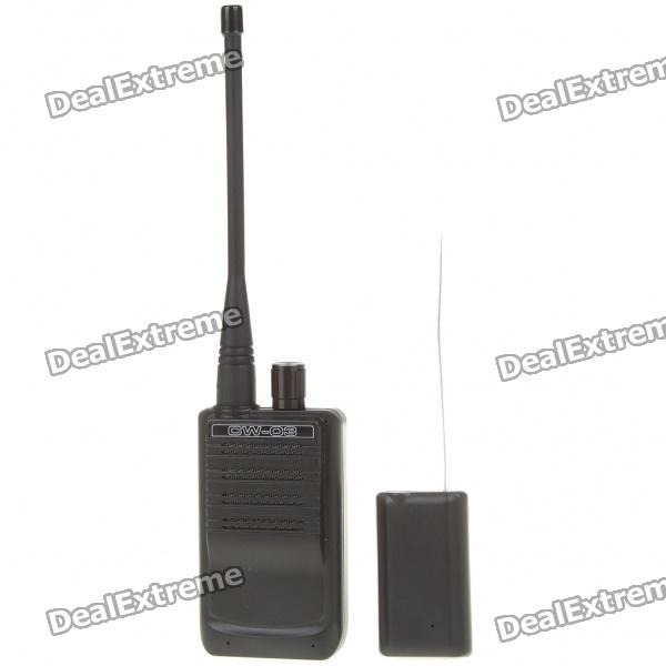500-Meter Micro Wireless Audio/Voice Bug Transmitter and Receiver SetOther Security Products<br>Model:Form  ColorBlackPower AdaptornoPower AdapterWithout Power AdapterPacking List<br>