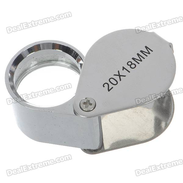 20x18mm Jewelers Loupe / Magnifier - Silver