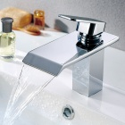 Contemporary Brass Waterfall Bathroom Faucet