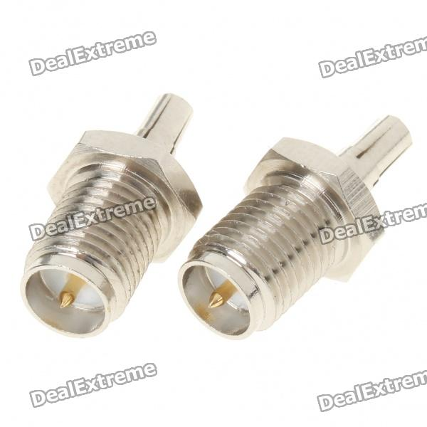RP-SMA Male to CRC9 Male Converter Adapters (Pair)