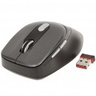 2.4GHz 500/1000DPI Wireless Optical Mouse w/ USB 2.0 Receiver - Grey (1 x AAA)