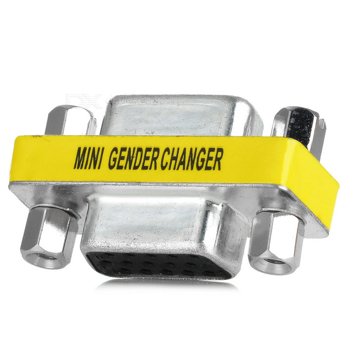 HDB15/F to HDB15/F Mini Gender Changer Adapter