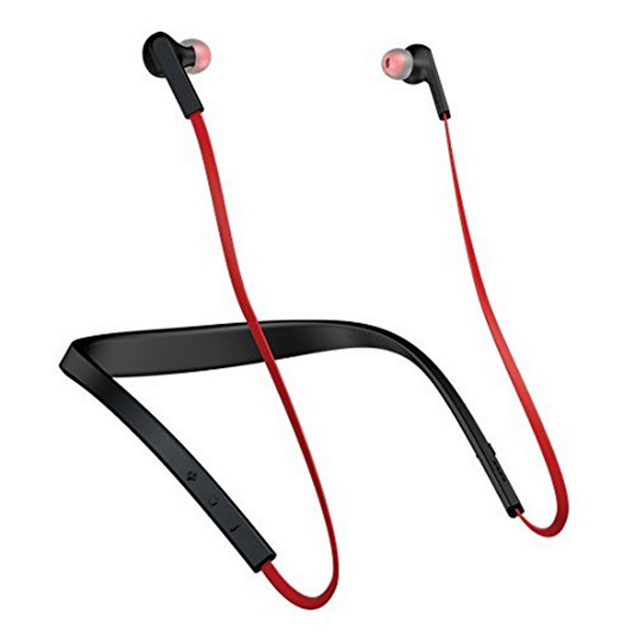 Jabra Halo Smart Wireless bluetooth in ear headset - Black and RedHeadphones<br>Form  ColorBlack + RedModelJabra Halo SmartMaterialplasticQuantity1 DX.PCM.Model.AttributeModel.UnitShade Of ColorRedEar CouplingIn-EarBluetooth VersionBluetooth V4.0Operating Range10meterMicrophoneYesSupports MusicYesConnects Two Phones SimultaneouslyNoApplicable ProductsUniversalBuilt-in Battery Capacity 230 DX.PCM.Model.AttributeModel.UnitBattery TypeLi-ion batteryTalk Time17 DX.PCM.Model.AttributeModel.UnitMusic Play Time15 hoursStandby Time528 DX.PCM.Model.AttributeModel.UnitPower AdapterOthers,Not specifyPacking List1 * Jabra Halo Smart1 * USB cable6 * sets of extra eargels<br>