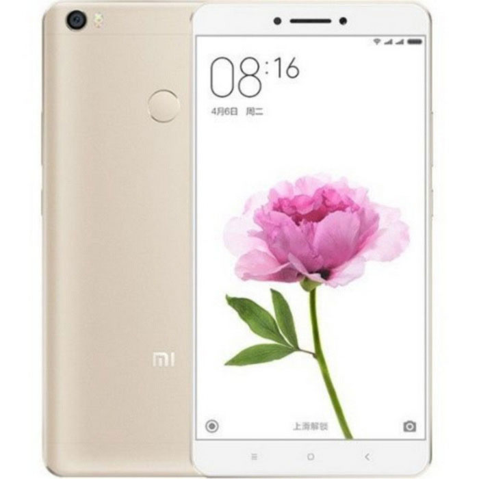 Xiaomi Mi Max Dual SIM 3GB RAM 64GB ROM - GoldAndroid Phones<br>Form ColorGoldenRAM3GBROM64GBBrandXiaomiModelMi Max DualQuantity1 DX.PCM.Model.AttributeModel.UnitMaterialMetalShade Of ColorGoldTypeBrand NewPower AdapterOthers,Not specifyHousing Case MaterialMetalNetwork Type2G,3G,4GBand DetailsGSM850, GSM900, GSM1800, GSM1900, CDMA800 (BC0), CDMA1900 (BC1/BC14), UMTS850 (B5), UMTS900 (B8), UMTS1900 (B2), UMTS2100 (B1), LTE2100 (B1), TD-SCDMA2000, TD-SCDMA1900, LTE1800 (B3), LTE2600 (B7), TD-LTE2600 (B38), TD-LTE2500 (B41), TD-LTE2300 (B40), TD-LTE1900 (B39)Data TransferGPRS,HSDPA,EDGE,LTENetwork ConversationDual-Party ConversationsWLAN Wi-Fi 802.11 a,b,g,n,acSIM Card TypeMicro SIM,Nano SIMSIM Card Quantity2Network StandbyDual Network StandbyGPSYesInfrared PortYesBluetooth VersionBluetooth V4.2Operating SystemAndroid 6.0CPU ProcessorQualcomm Snapdragon 620 MSM8976 / Snapdragon 652 <br>Browse devices based on this microprocessor<br>1820 MHzCPU Core QuantityHexa-CoreGPUAdreno 510LanguageNot specifyAvailable Memory59.6 GBMemory Cardmicro SDMax. Expansion Supported128GBSize Range5.5 inches &amp; OverTouch Screen TypeYesScreen Resolution1920*1080Screen Size ( inches)Others,6.44Camera PixelOthers,16MPFront Camera Pixels5 DX.PCM.Model.AttributeModel.UnitVideo Recording Resolution2160p@30fps, 1080p@30fps, 720p@120fpsFlashYesTouch FocusYesOther Camera FunctionsPhase Detection AF,  HDROther Camera Featuresface detection,Geo-taggingTalk Time30 DX.PCM.Model.AttributeModel.UnitStandby Time300 DX.PCM.Model.AttributeModel.UnitBattery Capacity4850 DX.PCM.Model.AttributeModel.UnitBattery ModeNon-removablefeaturesWi-Fi,GPS,FM,BluetoothSensorProximity,Compass,Accelerometer,Fingerprint authentication sensorWaterproof LevelIPX0 (Not Protected)I/O InterfaceMicro USBJAVANoRadio TunerFMWireless ChargingNoReference Websites== Will this mobile phone work with a certain mobile carrier of yours? ==Packing List1 * Mi Max1 * Charger1 * USB Cable1 * SIM Tray Removal Tool<br>